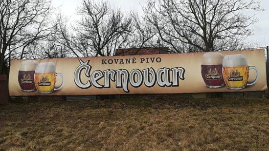reklamní banner pivovaru